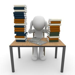 Bücher, Prüfung, lernen